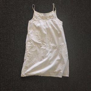 Old Navy White Cotton Eyelet Lace Mini Dress XS